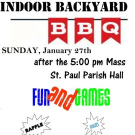 Sunday, January 27: Winter Indoor Backyard BBQ!