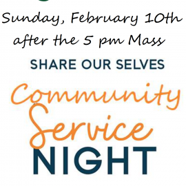Sunday, February 10: Youth Ministry Service Night