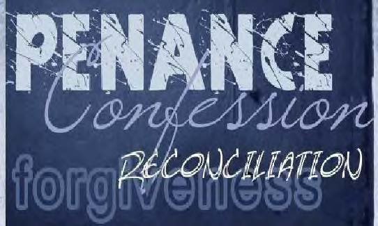 Reconciliation Service for High School Students – Sunday, March 17 at 4:00pm