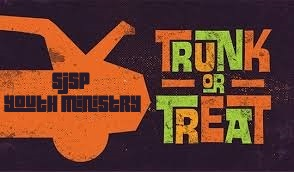 "Next Youth Ministry Event: ""Trunk or Treat"" on Sunday, March 31"