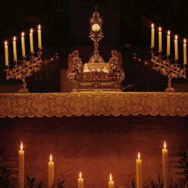 Holy Thursday: Live Feed of Adoration of the Blessed Sacrament from the St. John the Evangelist Chapel