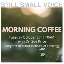 "A Virtual ""Evening for Women"" Morning Coffee<br>Tuesday, October 27 at 10:00am"
