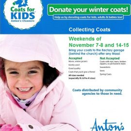"Annual ""Coats for Kids"" Collection Begins This Weekend! November 7-8 and 14-15"