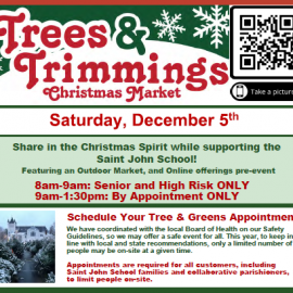 Trees & Trimmings is Saturday, December 5 – Schedule your Appointment Today!