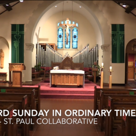 January 24, 2021: Mass for the Third Sunday in Ordinary Time