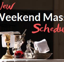 New Collaborative Weekend Mass Schedule Begins the Weekend of September 11-12