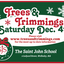 Save the Date! Trees and Trimmings Saturday December 4