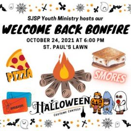 """Youth Ministry """"Welcome Back Bonfire"""" – Sunday, October 24"""